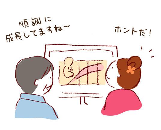 児の成長をキレイなイラストでグラフ化