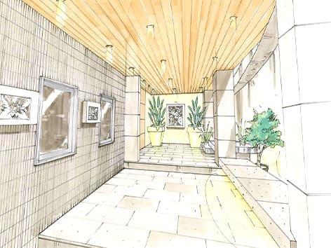 院の待合室のデザイン