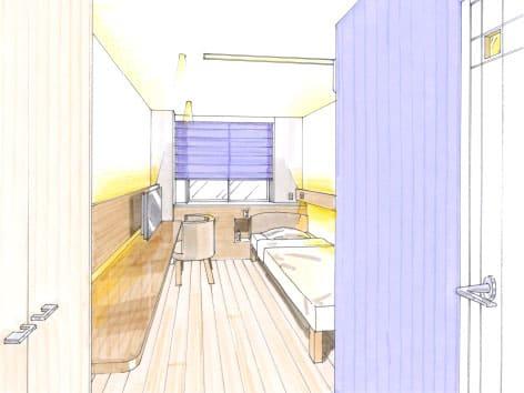 院の寝室のデザイン